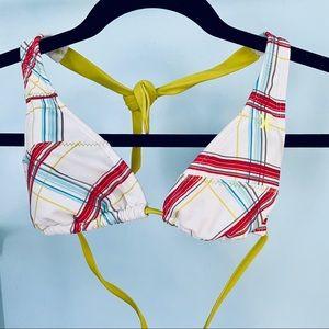 Hurley • Plaid Print Triangle Bikini Top